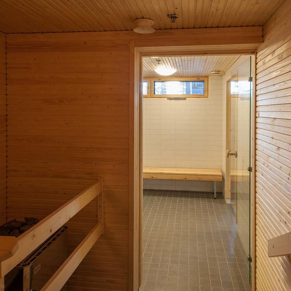 Talosauna, näkymä saunasta